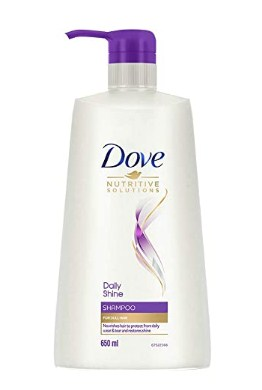 Dove Daily Shine Shampoo - For Dull And Frizzy Hair, Makes Hair Soft, Shiny And Smooth, 650 ml @429