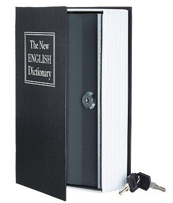 AmazonBasics Book Safe, Key Lock, Black @659