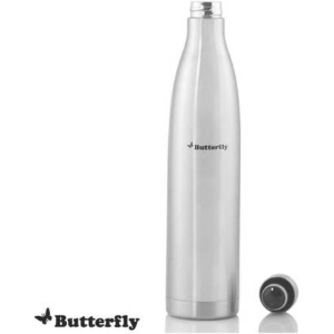 Butterfly Voyage 350 ml Flask  (Pack of 1, Silver, Steel) @349