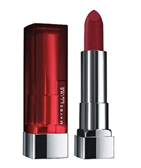 Maybelline New York Color Sensational Creamy Matte Lipstick, 695 Divine Wine, 3.9g@209.30