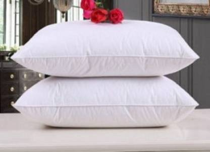 BOGGY Polyester Fibre Solid Sleeping Pillow Pack of 2  (White) @190