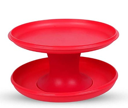 Tupperware Serve-It-All Pedestal Cake Pie Serving Stand Red @299