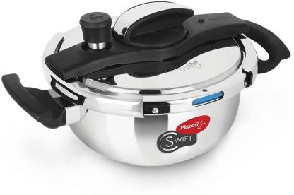 Pigeon Swift Kadai 3 L Induction Bottom Pressure Cooker  (Hard Anodized) @1399