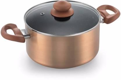 Prestige Omega Marble Sauce Pan 20 cm diameter with Lid  (Aluminium, Non-stick, Induction Bottom) @549