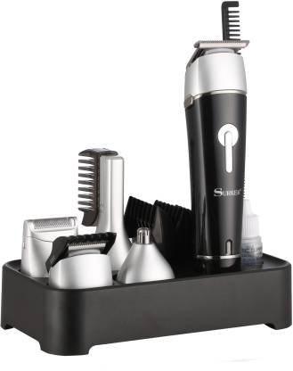 Surker 5 in 1 Hair Clipper Rechargeable Cordless Grooming Kit for Men Beard Trimmer Nose Hair Trimmer  @1,349