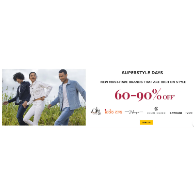 Superstyles Days flat 60-90% off