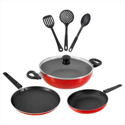 Butterfly Rapid 7P Set Indcution Bottom Cookware Set Induction Bottom Cookware Set  (Aluminium, 7 - Piece) @699