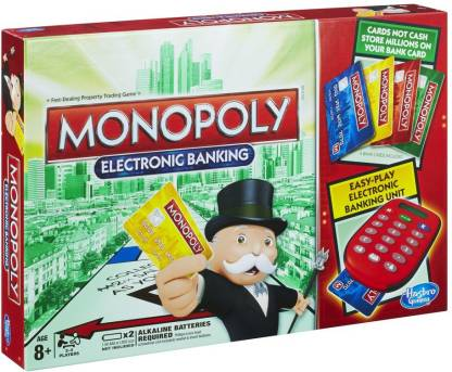 HASBRO GAMING Monopoly Electronic Banking 2-4 Players Board Game Accessories Board Game @999