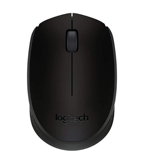Logitech B170 Wireless Mouse, 2.4 GHz with USB Nano Receiver, Optical Tracking, 12-Months Battery Life @599