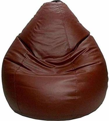 KS Collection XL Tear Drop Bean Bag Cover (Without Beans)  (Brown) @470