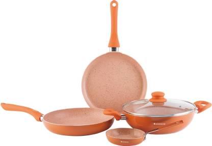 WONDERCHEF Valencia Induction Bottom Cookware Set  (Aluminium, 4 - Piece) @1,649