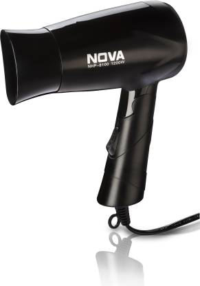 Nova Silky Shine Hot And Cold Foldable NHP 8100 Hair Dryer  (1200 W, Black) @404