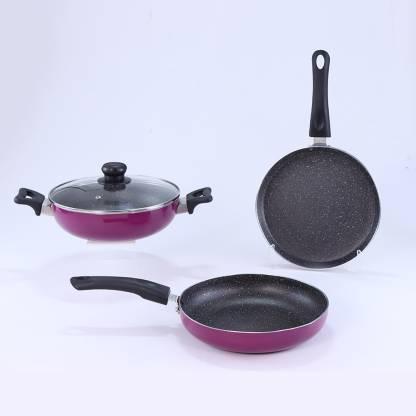 WONDERCHEF Induction Bottom Cookware Set  (Aluminium, 3 - Piece)  @1,149