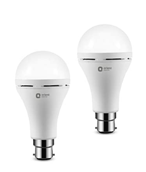 Orient Electric Emergency LED Lamp 9W, Automatic Rechargeable Base 22 LED Bullb for Home-6500K @757