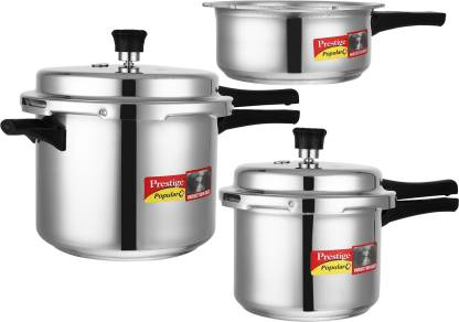 Prestige Popular Plus 2 L, 3 L, 5 L Induction Bottom Pressure Cooker  (Aluminium) @,299