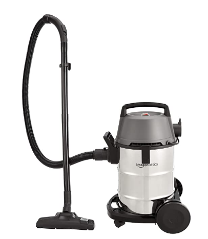 AmazonBasics 1400 W 21L Wet and Dry Vacuum Cleaner with Blower Function and Steel Drum @5,029