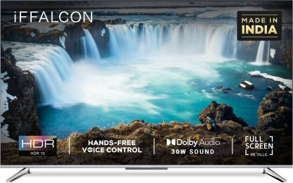 iFFALCON by TCL 107.9 cm (43 inch) Ultra HD (4K) LED Smart Android TV with HandsFree Voice Search  (43K71) @26,999