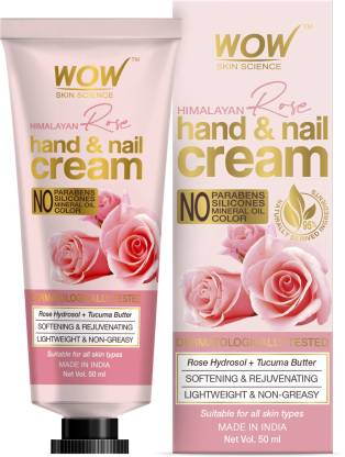 WOW SKIN SCIENCE Himalayan Rose Hand & Nail Cream - No Parabens, Silicones, Mineral Oil & Color - 50mL @199