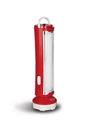 Pigeon LED Glow Emergency lamp with Torch with 1600 mAh Battery and 5 Hours Back up time (Red) @399