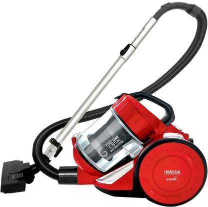 Inalsa Aristo Bagless Dry Vacuum Cleaner with Reusable Dust Bag  (Red) @3,250