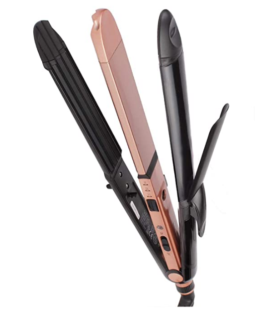 VEGA Keratin 3 in 1 Hair Styler - Straightener, Curler, and Crimper (VHSCC-03), 1N, Rose Gold @1,399