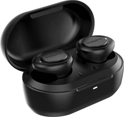 PHILIPS TAT1215BK (TWS) with IPX4 Splash-Proof Design Bluetooth Headset  (Black, True Wireless) @1,399