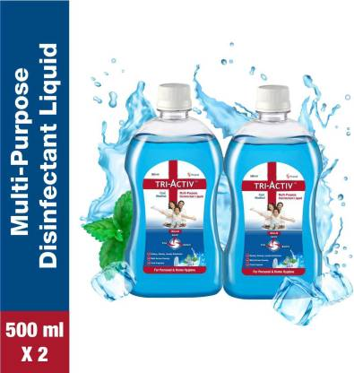 Tri-Activ Disinfectant Liquid for Multipurpose use for Personal Hygiene and Home Cleaning 500ml Cool Menthol  (1000 ml) @199