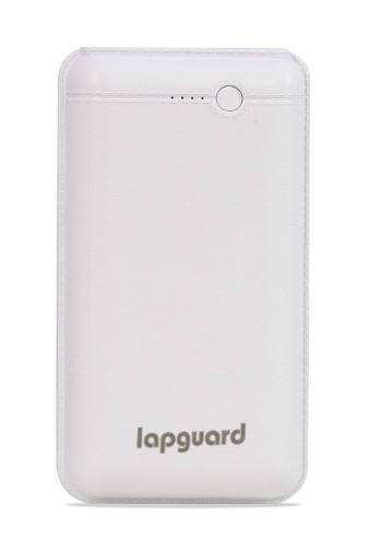 Lapguard 20000mAh Li-Polymer Power Bank (White), USB Type C and Micro USB Ports | 10W Fast Charging @499