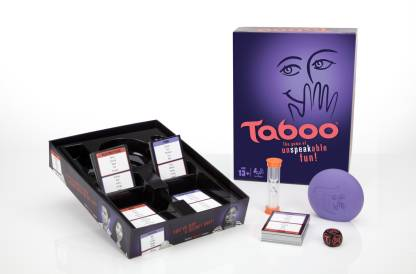 HASBRO GAMING Taboo Board Game,Guessing Game For Families Money & Assets Games Board Game @679