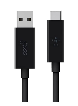 Belkin 3.1 USB-A Male to USB-C Cable for Type-C Supported Devices (3.3ft) - Black @899