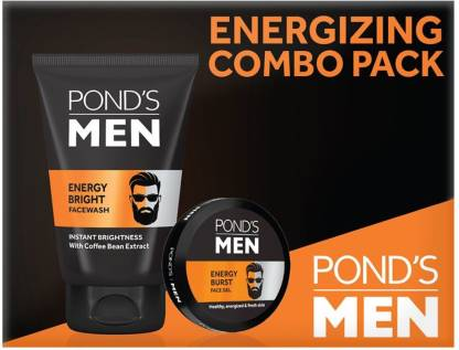 PONDS Men Energizing Combo Pack (Facewash & Face Gel)  (2 Items in the set) @222