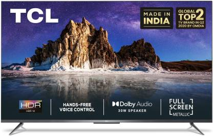 TCL P715 108 cm (43 inch) Ultra HD (4K) LED Smart Android TV with Full Screen & Handsfree Voice Control  (43P715) @32,999