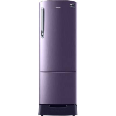 SAMSUNG 255 L Direct Cool Single Door 3 Star Refrigerator with Base Drawer  (Pebble Blue, RR26T389YUT/HL) @19,490