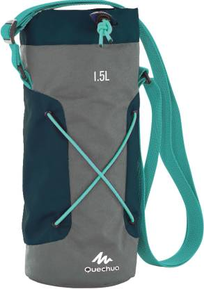 Quechua by Decathlon Isothermal Cover for Hiking Water Bottle 1.2 to 1.5 Litre - Grey/Blue 1500 ml Bottle  @399