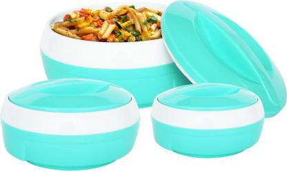 PRINCEWARE Pack of 3 Thermoware Casserole Set  (1500 ml, 1000 ml, 600 ml) Only 398 Ru.