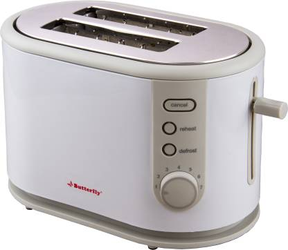 Butterfly ST 03 800 W Pop Up Toaster  (White, Grey) @999