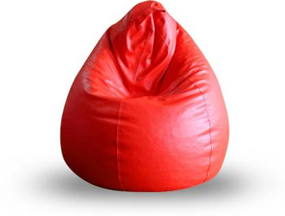 STYLE HOMEZ XL Tear Drop Bean Bag Cover (Without Beans)  (Red) @404