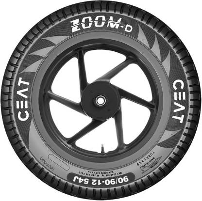 CEAT 102074 ZOOM D TL 54J 90/90-12 Front & Rear Tyre  (Street, Tube Less) @893