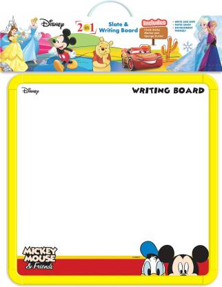 DISNEY Mickey & Friends 2-in-1 Slate & Writing Board with markers and chalk  (Multicolor) @197